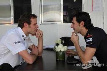 Alexander Wurz and Pedro de la Rosa