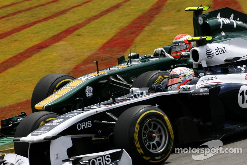 Jarno Trulli, Team Lotus and Pastor Maldonado, Williams F1 Team