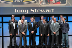 Tony Stewart, Carl Edwards, Kevin Harvick, Matt Kenseth, Brad Keselowski, Jimmie Johnson, Dale Earnhardt Jr., Jeff Gordon, Denny Hamlin, Ryan Newman, Kyle Busch and Kurt Busch