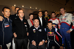 Eric Besson, French Industry Minister, with Stéphane Sarrazin, Philippe Streiff, Romain Grosjean, Sébastien Ogier, Sébastien Loeb and Julien Jousse
