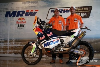 Marc Coma and Joan Pedrero unveil their KTM