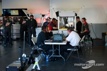 Hendrick Motorsports team members at work