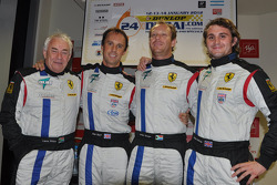 Polesitters Leon Price, Rob Barff, Jordan Grogor, Charlie Hollings