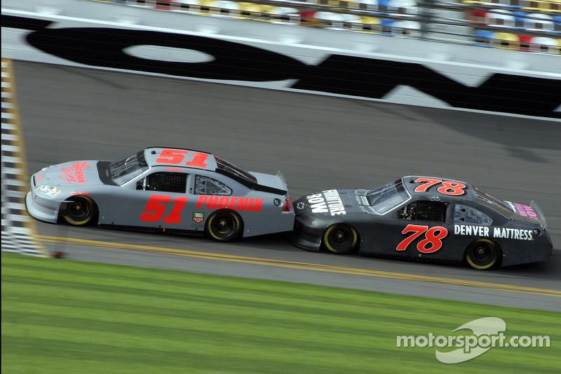 Kurt Busch Phoenix Racing Chevrolet And Regan Smith Furniture Row Racing Chevrolet At Daytona