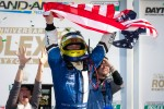 DP victory lane: class and overal winner A.J. Allmendinger celebrates
