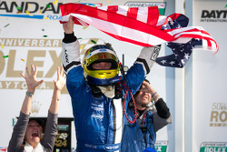 GRANDAM: DP victory lane: class and overal winner A.J. Allmendinger celebrates