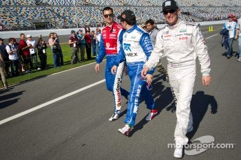 Graham Rahal, Memo Rojas and Joey Hand