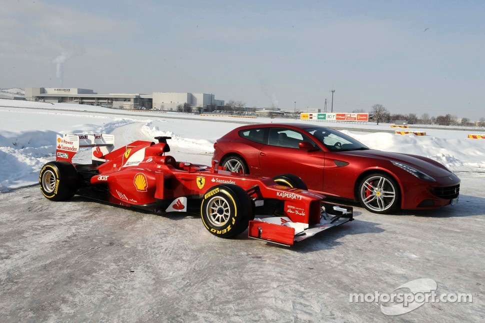 The new Ferrari F2012 with the FF