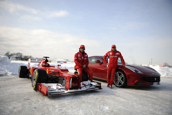 Fernando Alonso and Felipe Massa with the F2012 and FF