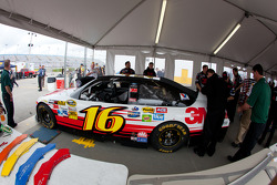 Car of Greg Biffle, Roush Fenway Racing Ford at technical inspection