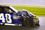 Jimmie Johnson, Hendrick Motorsports Chevrolet on pitlane with damage