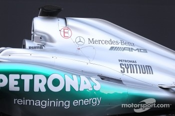 Mercedes W03 engine cover