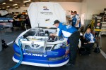 Michael Waltrip Racing Toyota team members at work