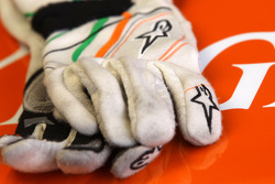 Gloves of Nico Hulkenberg, Sahara Force India Formula One Team