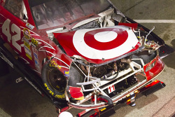 Wrecked car of Juan Pablo Montoya, Earnhardt Ganassi Racing Chevrolet