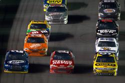 Brad Keselowski, Penske Racing Dodge, Tony Stewart, Stewart-Haas Racing Chevrolet, Marcos Ambrose, Richard Petty Motorsports Ford