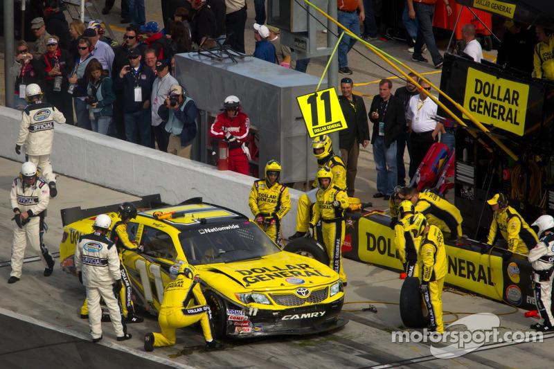 Brian Scott, Joe Gibbs Racing Toyota in the pits