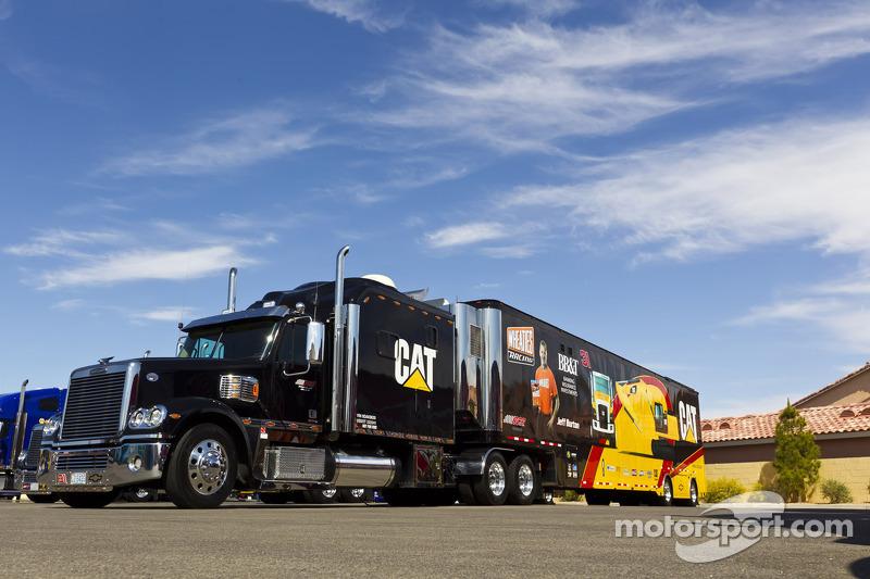 The hauler of Jeff Burton, Richard Childress Racing Chevrolet