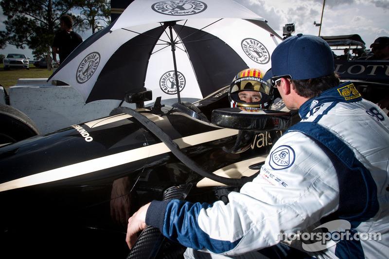 Alex Tagliani, Team Barracuda - BHA Lotus and Oriol Servia, Lotus Dreyer & Reinbold Racing Lotus