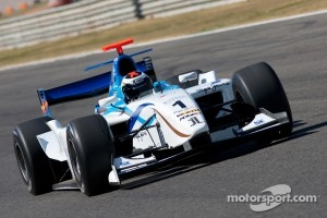 Jorge Lorenzo tests the Barwa Addax Team GP2 car