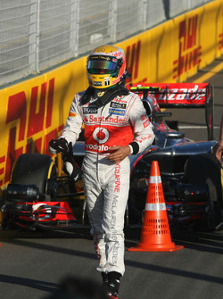 Pole position for Lewis Hamilton, McLaren Mercedes