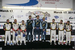 WEC LMGTE-Am podium: first place Christian Ried, Gianluca Roda, Paolo Ruberti, second place Christophe Bourret, Pascal Gibon, Jean-Philippe Belloc, third place Patrick Bornhauser, Julien Canal, Pedro Lamy