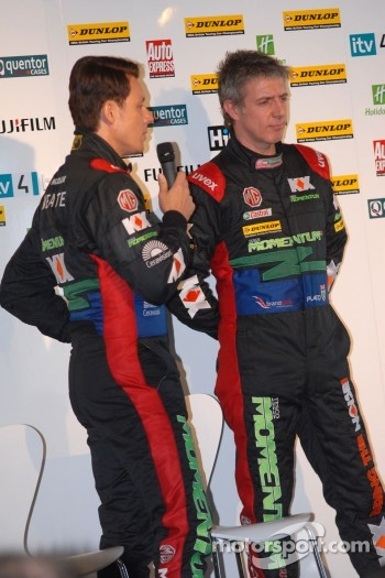 MG KX Momentum Racing Drivers Andy Neate and Jason Plato