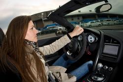 Audi R8 GT Spyder launch event in Tokyo: Cyndie Allemann tries the Audi R8 GT Spyder