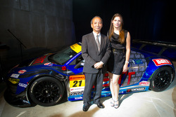 Cyndie Allemann with Hitotsuyama Racing team owner Mikio Hitotsuyama