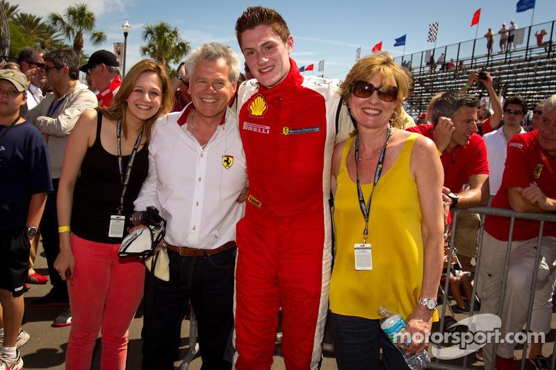 Race winner #23 Ferrari of Central Florida 458TP: Onofrio Triarsi