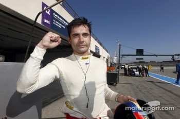 Jaime Melo celebrates GT pole