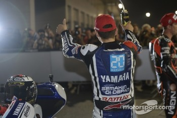 Pole winner Jorge Lorenzo, Yamaha Factory Racing celebrates