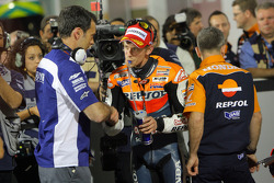 Second fastest qualifier Casey Stoner, Repsol Honda Team