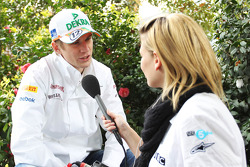 Nico Hulkenberg, Sahara Force India F1 interviewed by Jenny Gow, BBC Radio 5 Live Pitlane Reporter