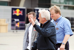 Charlie Whiting, FIA Delegate with Paddy Lowe, McLaren Mercedes Technical Director and Jo Bauer, FIA Delegate