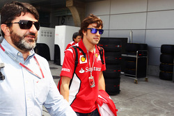 Fernando Alonso, Scuderia Ferrari with his manager Luis Garcia Abad