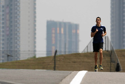 Sebastien Buemi, Red Bull Racing third driver runs the circuit
