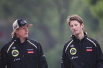 Kimi Raikkonen, Lotus F1 Team with Romain Grosjean, Lotus F1 Team