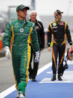Heikki Kovalainen, Caterham and Romain Grosjean, Lotus F1 Team