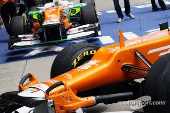 Sahara Force India F1s