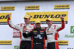 Round 4 Podium 1st Mat Jackson, 2nd Gordon Shedden, 3rd Matt Neal
