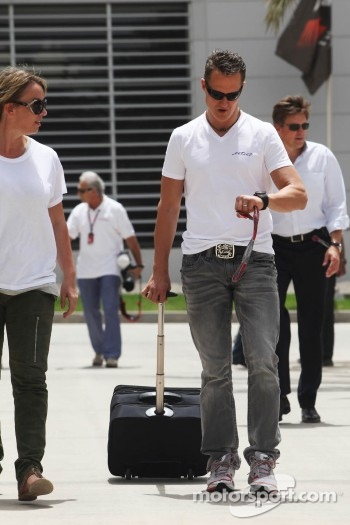 Michael Schumacher, Mercedes AMG F1 in the paddock