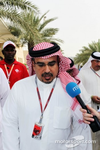 Crown Prince Shaikh Salman bin Isa Hamad Al Khalifa, with the media
