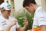 Nico Hulkenberg, Sahara Force India F1 with team mate Paul di Resta, Sahara Force India F1