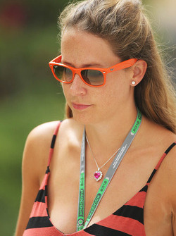 Catherine Hyde, girlfriend of Heikki Kovalainen, Caterham