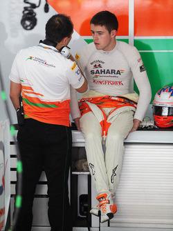 Paul di Resta, Sahara Force India F1 in the pits