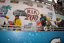 GS podium: champagne celebrations