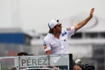 Sergio Perez, Sauber on the drivers parade
