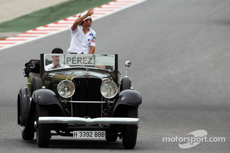 Sergio Perez, Sauber on the drivers parade