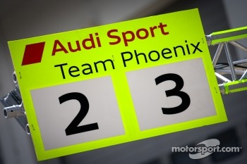Audi Sport Team Phoenix pitboard